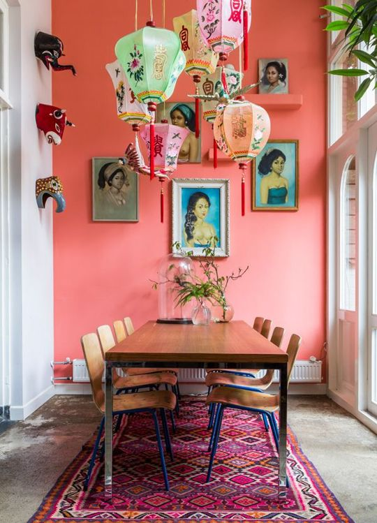 1  Be Daring And Paint A Wall With Bright Colours Such As Yellow, Fuchsia,  Orange Or Colder Shades Such As Blue Or Green.